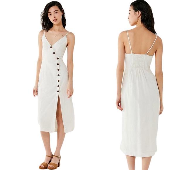 0c50ba27efb9 Urban Outfitters Dresses | Amber White Midi Dress Sz S Us | Poshmark